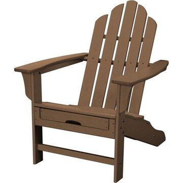 Hanover Outdoor All-Weather Contoured Adirondack Chair with Hideaway Ottoman