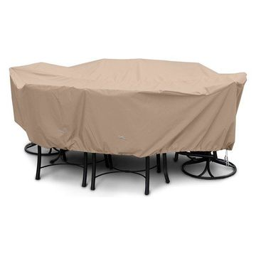 Large High Back Dining Set Cover, Toast