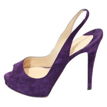 Christian Louboutin Purple Suede Sandals