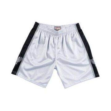 Mitchell & Ness Men's San Antonio Spurs Platinum Swingman Shorts