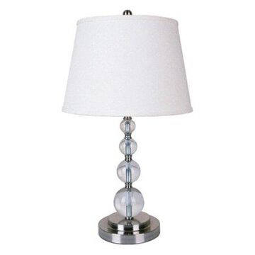 ORE International Crystal Table Lamp, Chrome