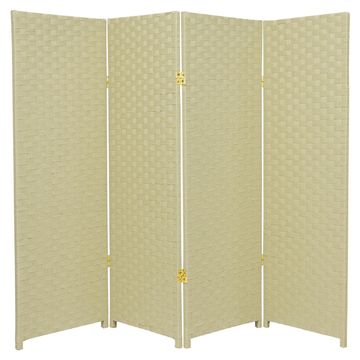 Oriental Furniture Woven Fiber Room Divider