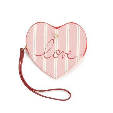 LC Lauren Conrad Heart Wristlet