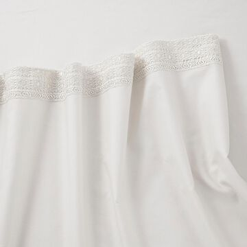 Martex Solid Attached Lace Sheet Set