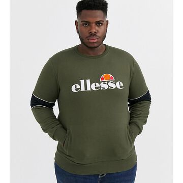ellesse Plus Rigano sweat with sleeve panels in green exclusive at ASOS