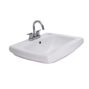 Barclay Ambrose Wall-Hung Basin White Wall-Mount Rectangular Bathroom Sink with Overflow Drain (18.5-in x 23-in)   4-1454WH