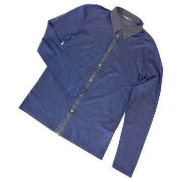 Z Zegna Navy Cotton Shirts