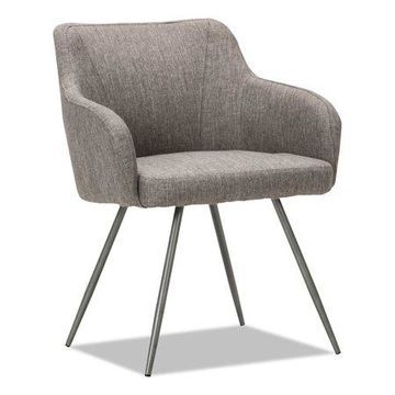 Alera Captain Series Guest Reception Waiting Room Chair, Gray Tweed