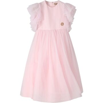 Elie Saab Pink Dress For Girl With Iconic Logo