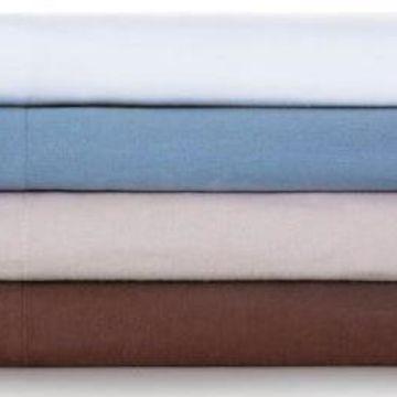 Malouf Woven Coffee King Portuguese Flannel Sheets