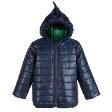 First Impressions Baby Boys Hooded Dinosaur Puffer Jacket, Created for Macy's