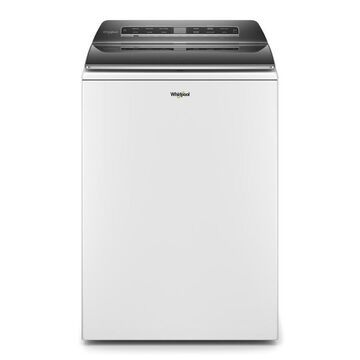 Whirlpool 5.3-cu ft Smart Capable High-Efficiency Top-Load Washer with Load and Go Dispenser and Pretreat Station Plus - White