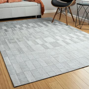 Bombay Home Hidey Grey Faux Cowhide Viscose/Wool Area Rug