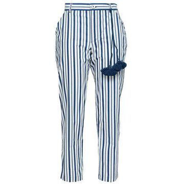 Figue Zuri Cropped Striped Cotton-poplin Straight-leg Pants