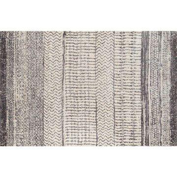 Momeni Lima Lorcan Striped Shag Rug, Natural, 4X5.5 Ft