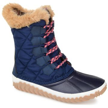 Brinley Co. Womens Comfort Foam Lace-Up Winter Boot