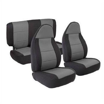 Smittybilt 471322 Seat Covers Charcoal Neoprene For 2003-2006 Jeep JK Wrangler