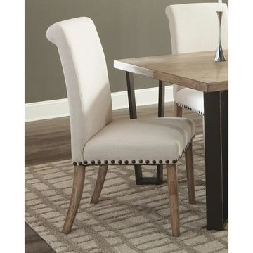 Coaster Taylor Beige Upholstered Parson Dining Chair (Set of 2)Coaster