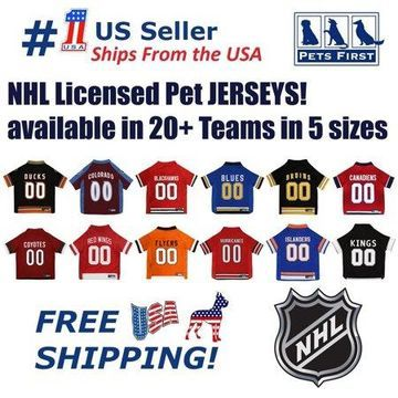 Pets First NHL Columbus Blue Jackets Mesh Jersey for Dogs and Cats - Licensed