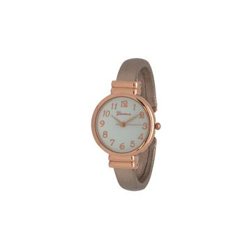 Olivia Pratt Womens Gold Tone Leather Bangle Watch-17517gold