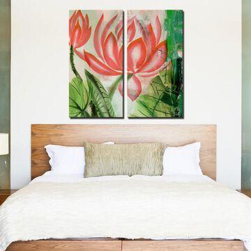Ready2HangArt 'Painted Petals LIII' 2-Pice Canvas Wall Art Set