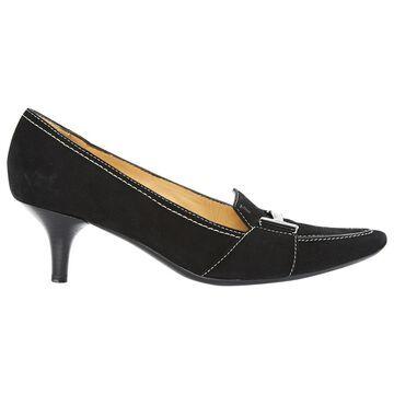 Tod's Black Suede Heels