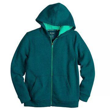 Boys 8-20 Tek Gear Ultra Soft Full-Zip Hoodie, Boy's, Size: Medium HUSKY, Dark Blue