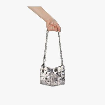 Paco Rabanne silver Iconic 1969 square disc mini bag