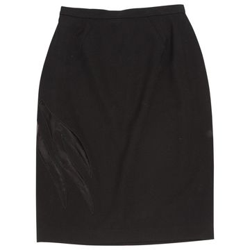Thierry Mugler Black Wool Skirts