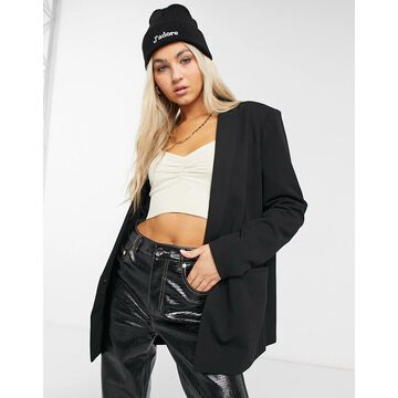 Noisy May oversized blazer in black
