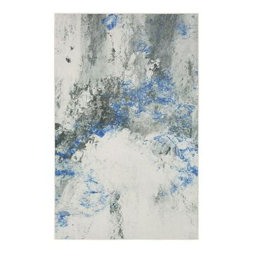 Mohawk Home Prismatic Gold Vein Grey Recycled EverStrand Area Rug, Blue, 2X3 Ft