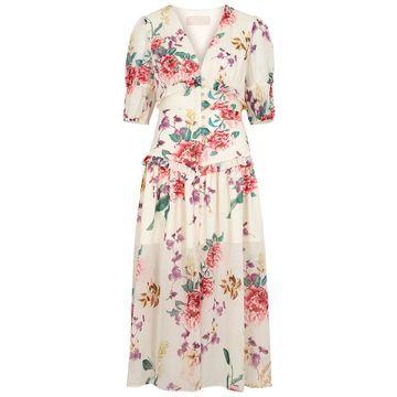 About Us floral-print chiffon midi dress