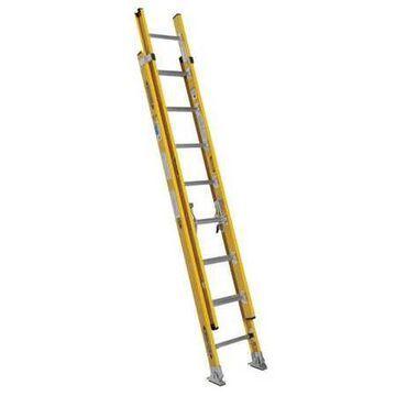 WERNER 7116-2 Extension Ladder, Fiberglass, 16 ft. , Type IAA