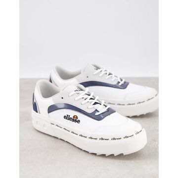 Ellesse alzina sneakers in white and navy