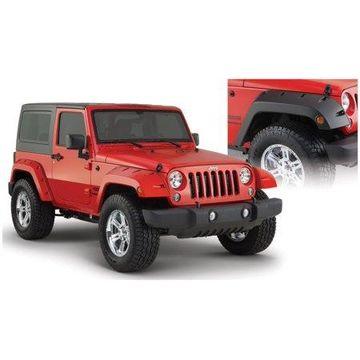 Bushwacker 07-18 Jeep Wrangler Pocket Style Flares 2pc - Black