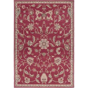 """Art of Knot Sabin Red 6'7"""" x 9'6"""" Traditional Oriental Area Rug"""