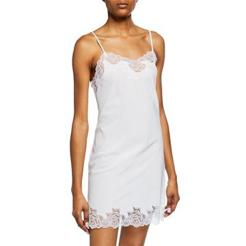 Lace-Trim Cotton Chemise