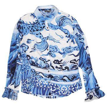 Roberto Cavalli Blue Silk Tops