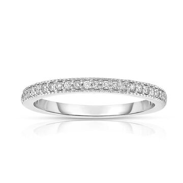 Noray Designs 14K White Gold .15ct TDW Diamond Semi-Eternity Wedding Band - White G-H (5)
