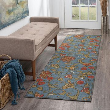 Tayse Averie Transitional Floral Indoor Rectangular Accent Rug