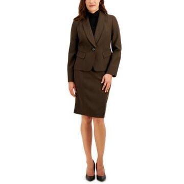 Le Suit Shawl-Collar Skirt Suit
