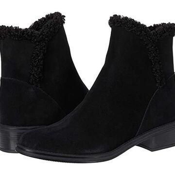 Vaneli Relis Waterproof (Black Suede/Black Faux Shearling) Women's Boots
