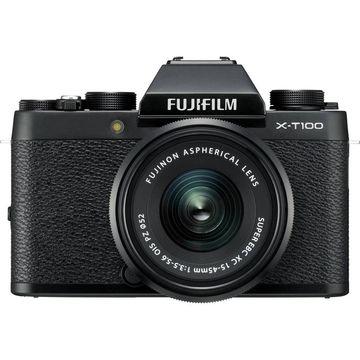 FUJIFILM X-T100 Mirrorless Digital Camera with 15-45mm Lens (Black)