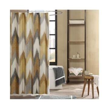 """Ink+Ivy Alpine Cotton 72"""" x 72"""" Broken Chevron-Print Shower Curtain Bedding"""