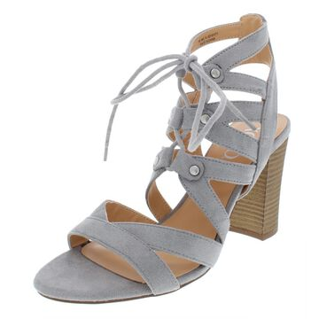 XOXO Womens Balta Faux Suede Caged Dress Sandals
