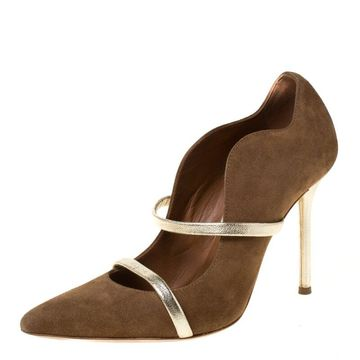 Malone Souliers Brown Suede Pumps Size 36