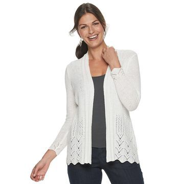 Petite Napa Valley Pointelle Cardigan