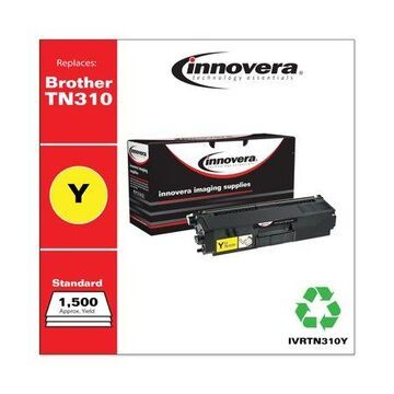 Innovera Remanufactured Yellow Toner Cartridge, Replacement for Brother TN310Y, 1,500 Page-Yield -IVRTN310Y