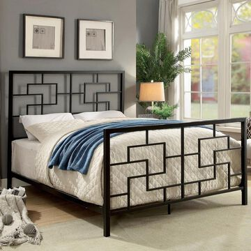 Furniture of America Queg Contemporary Metal Geometric Bed