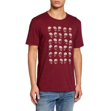 Men's Rows of Skull Graphic T-Shirt